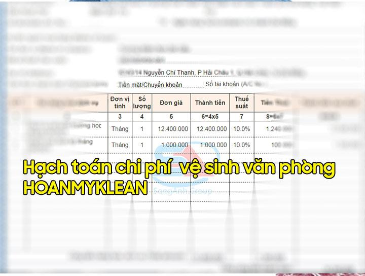 Hạch toán chi phí vệ sinh văn phòng