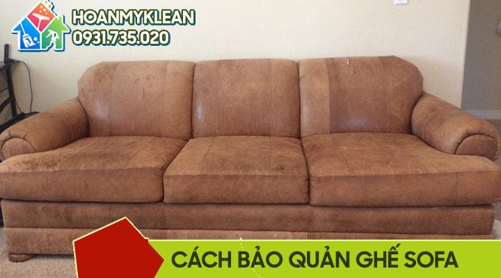 Cách bảo quản ghế sofa da và vải nỉ
