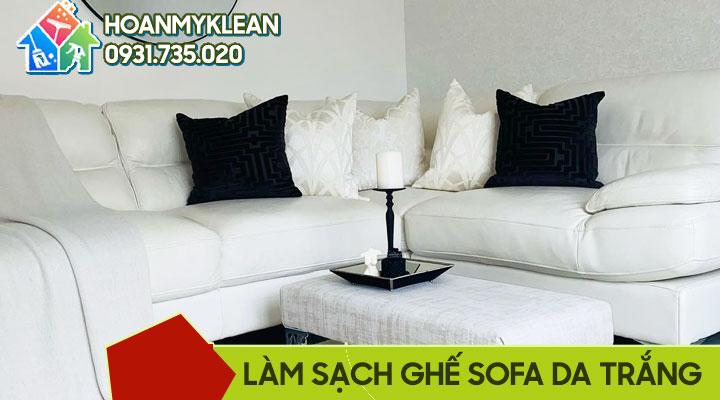 Cách làm sạch ghế sofa da trắng  sáng bóng