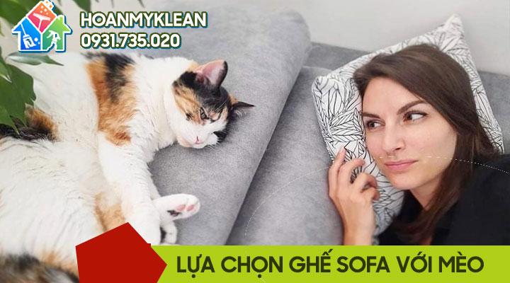Lựa chọn ghế sofa cho nhà nuôi mèo