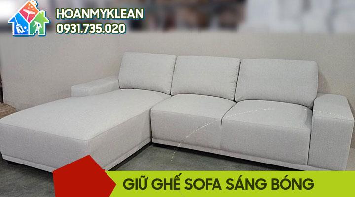 Cách giữ ghế sofa sáng bóng như mới