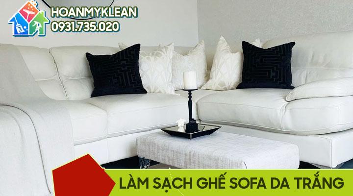 Cách làm sạch ghế sofa da trắng